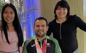 Yalitza, Diego y Alexa se mostraron muy orgullosos en su encuentro. (Foto: @alexa_moreno_mx).
