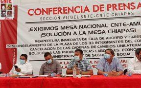 CNTE en Chiapas acusa falta de atención de Delfina Gómez