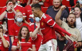 Cristiano Ronaldo doblete United