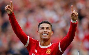 Cristiano Ronaldo vivió con euforia su regreso a Old Trafford. (Foto: Reuters).