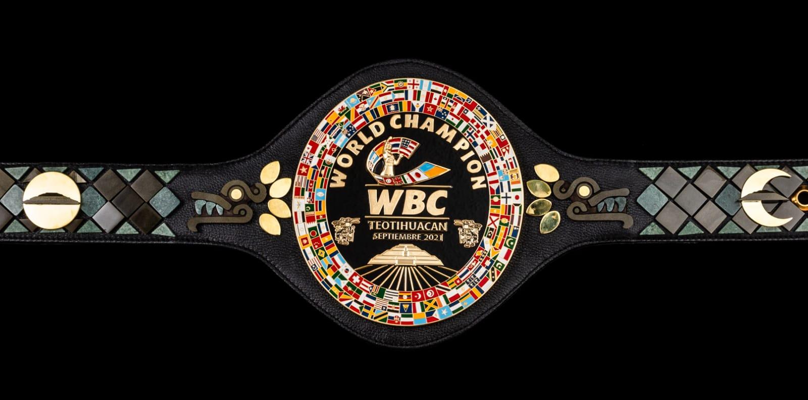 Presentan el cinturón Teotihuacano, la 'joya' que coronará al campeón mundial unificado entre 'Canelo' y Plant