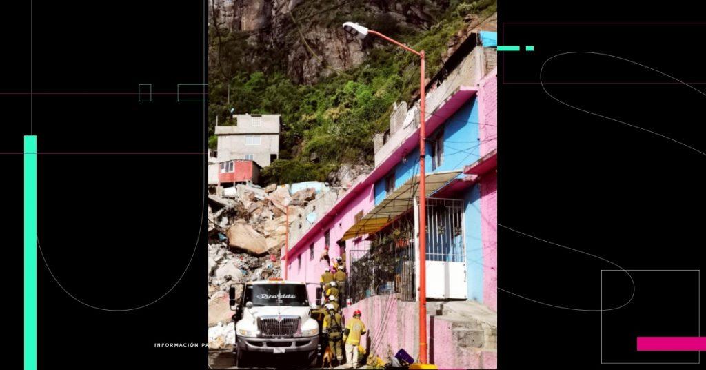 """Autoridades piden desalojar viviendas en el Chiquihuite; """"el riesgo es inminente"""", dicen"""