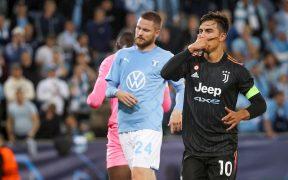 La 'Joya' Dybala celebra su gol frente al Malmö. (Foto: EFE).