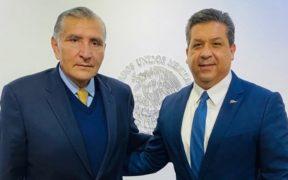 """García Cabeza de Vaca se reúne con Adán Augusto; """"acordamos trabajar en estrecha coordinación"""", dice el gobernador"""