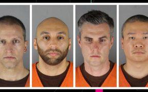 Cuatro expolicías implicados en caso de George Floyd se declaran no culpables