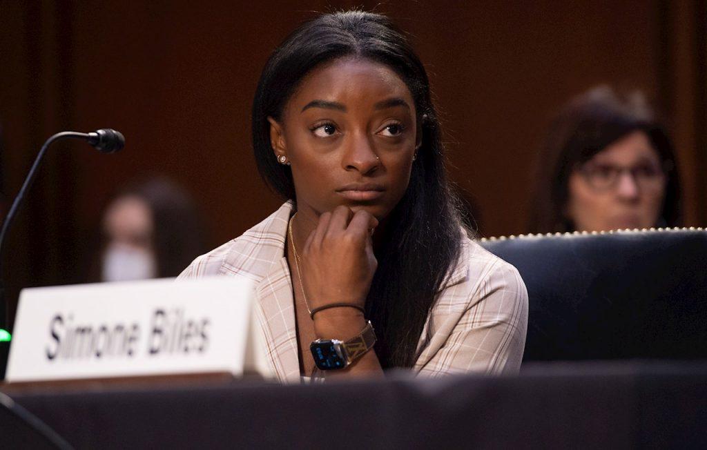 Biles compareció ante el Comité Judicial del Senado de Estados Unidos. (Foto: EFE).
