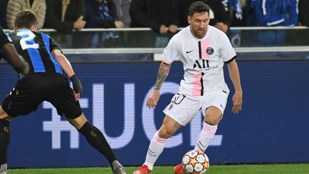 Messi sufrió ante el Brujas. (Foto: Reuters).