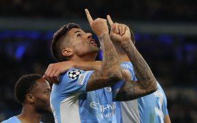 Cancelo festeja su anotación en la goleada sobre el Leipzig. (Foto: Reuters).
