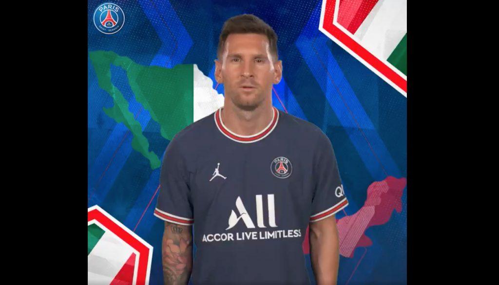 Messi encabezó el mensaje del PSG a los fans mexicanos. (Captura de video).