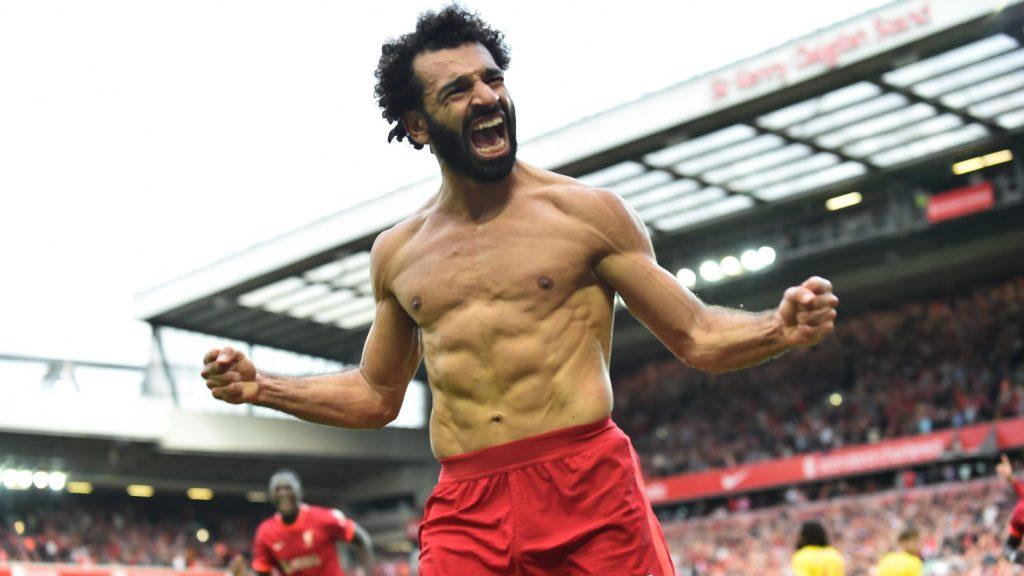 Salah festejo eufórico su gol frente al Crystal Palace. (Foto: Reuters).