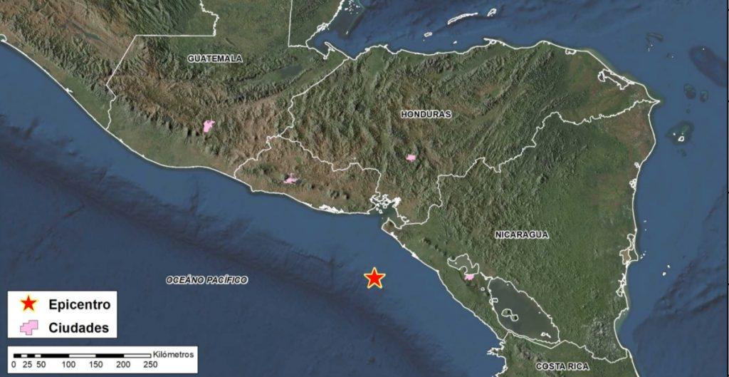 USGS reporta durante la madrugada un sismo de 6.5 en las costas de Nicaragua