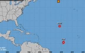 """Depresión tropical se fortalece en el Atlántico; puede convertirse en la tormenta """"Sam"""""""