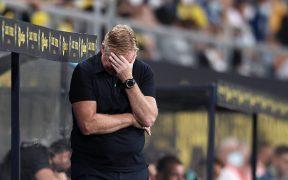 Koeman vivió intensamente el empate ante Cádiz. (Foto: Reuters).