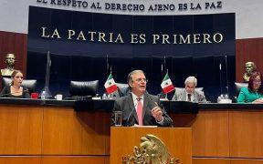 Entre reclamos, Ebrard defiende estrategia contra migración durante su comparecencia en el Senado