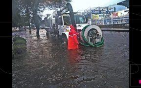 Reportan inundaciones y caída de granizo en Ecatepec