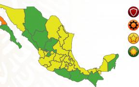 Oaxaca y Guerrero pasan a verde en el semáforo epidemiológico; sólo hay un estado en naranja