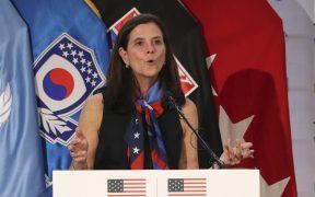 Lisa Baird, comisionada de la Liga Femenil de Estados Unidos, dejó su cargo por el escándalo. (Foto: AP).