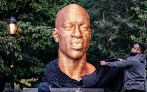 Vuelven a vandalizar la estatua de George Floyd en Nueva York