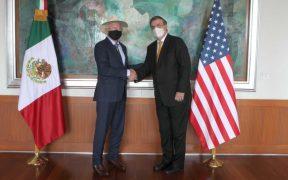 Ebrard y Ken Salazar se reúnen previo a diálogo de seguridad de alto nivel entre ambos países