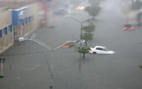 Lluvias provocan inundaciones en calles de Mérida, Yucatán
