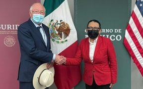 Rosa Icela Rodríguez y Ken Salazar dialogan sobre intereses comunes de seguridad
