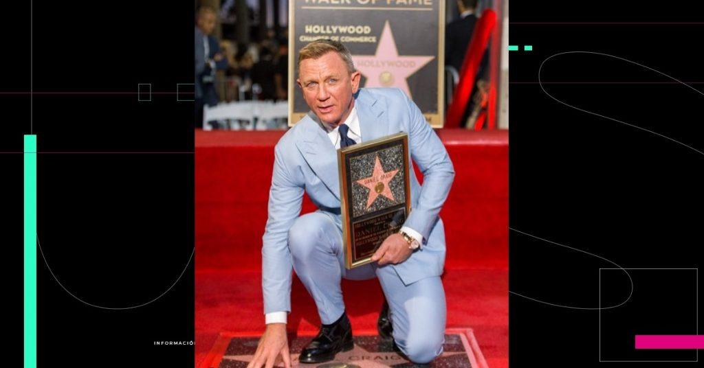 Daniel Craig se va del papel de James Bond con una estrella en el Paseo de la fama