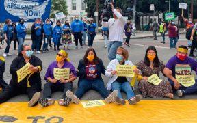 Protesta en Los Ángeles para exigir reforma migratoria termina en arrestos