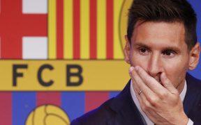 Messi, en su despedida del Barcelona. (Foto: Reuters).