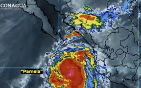 """Conagua prevé que huracán """"Pamela"""" toque tierra mañana en Sinaloa como categoría 2"""