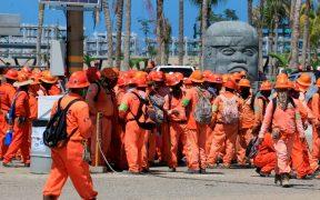 Trabajadores de ICA Fluor en refinería de Dos Bocas se van a paro