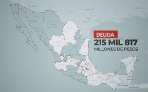 Gobernadores heredan deudas por 215 mil mdp; las destinan a gasto ordinario
