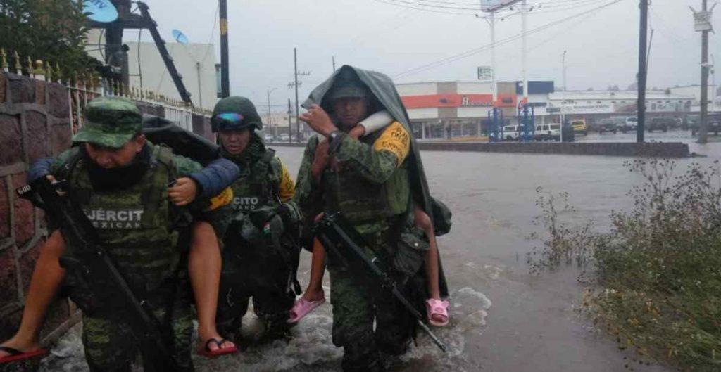 """""""Pamela"""" se degrada a depresión tropical; reportan afectaciones en Durango"""