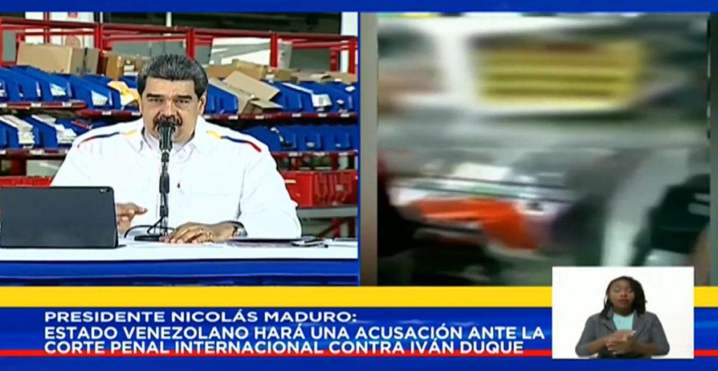 Maduro acusa a presidente de Colombia de alentar la xenofobia contra los venezolanos