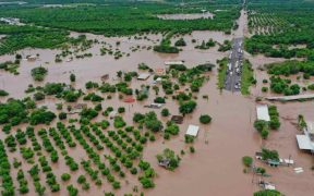 """Nayarit, bajo alerta de inundación por crecida de ríos San Pedro y Acaponeta tras lluvias de """"Pamela"""""""
