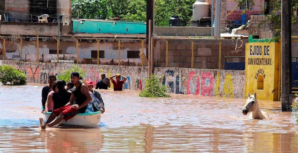 Huracán Pamela deja severas inundaciones en Nayarit