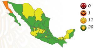 Secretaría de Salud confirma que CDMX y Edomex pasan a verde; BC, el único estado en naranja