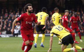 Salah celebra su golazo al Watford. (Foto: Reuters).