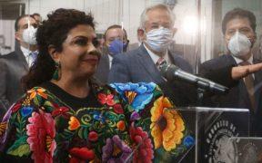 Panistas denuncian a Clara Brugada, alcaldesa de Iztapalapa, por arengar a Sheinbaum y AMLO en fiestas patrias