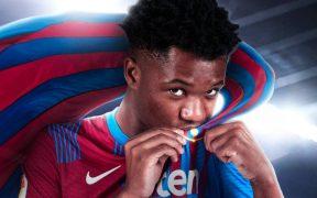 Ansu Fati asegura su futuro como azulgrana hasta 2027. (Foto: FC Barcelona).
