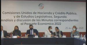 Comisiones del Senado aprueban dictamen del Paquete de Ingresos 2022; pasa al pleno